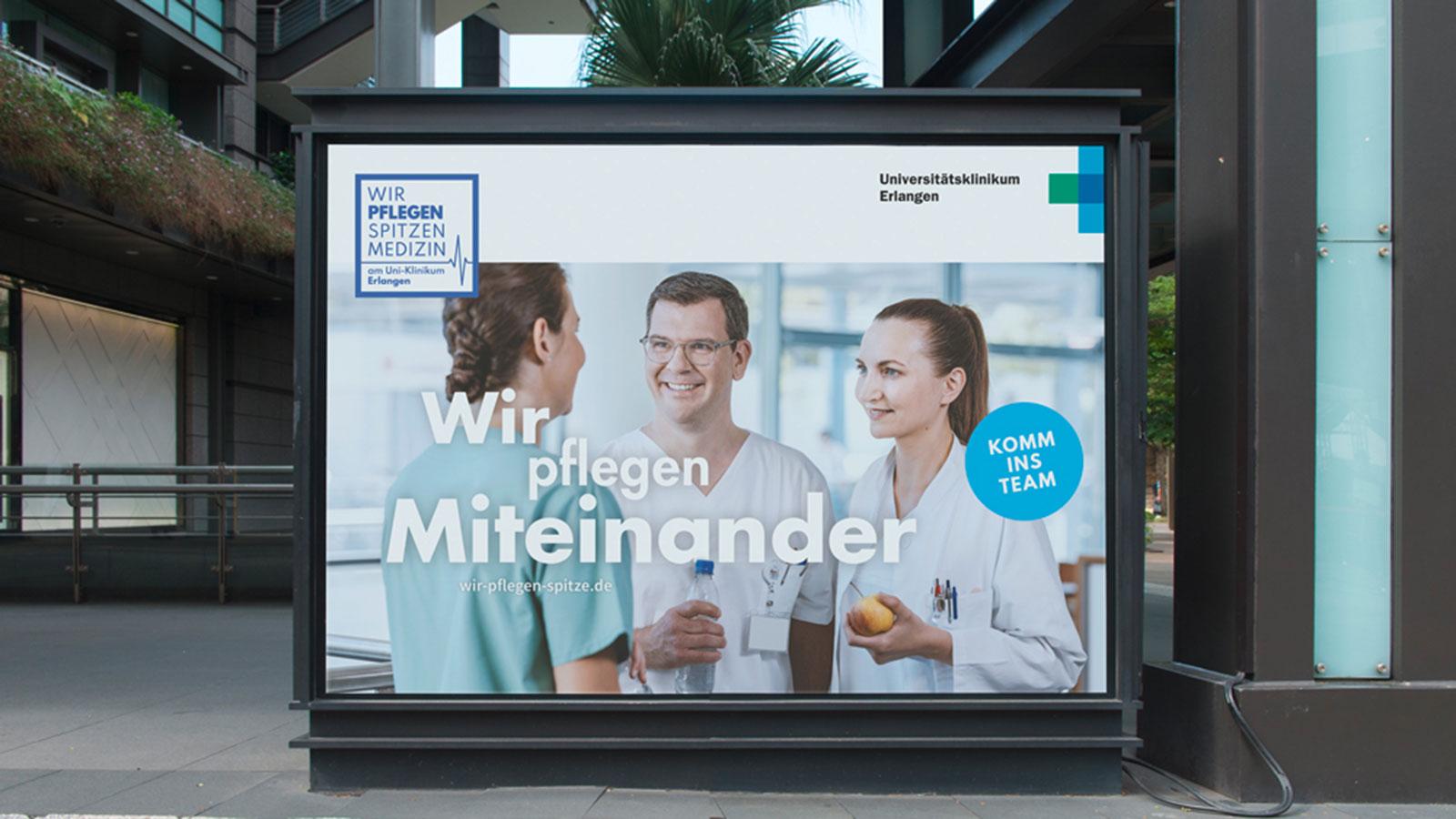 Uniklinikum Erlangen - Keyvisual Miteinander