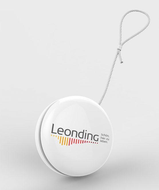 Leonding Logo auf Jojo